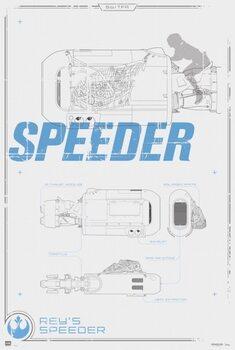 Αφίσα Star Wars - Rey's Speeder