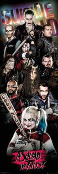 Αφίσα πόρτας Suicide Squad - Collage