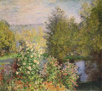 Εκτύπωση καμβά A Corner of the Garden at Montgeron, 1876-7