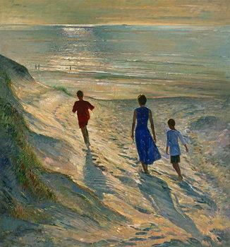 Εκτύπωση καμβά Beach Walk, 1994