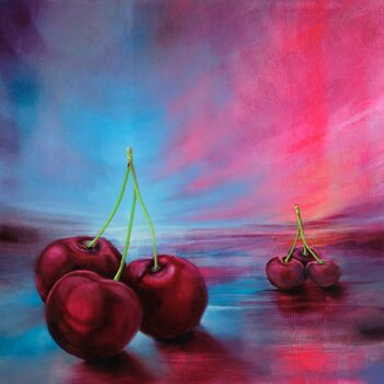 Εκτύπωση καμβά Cherries