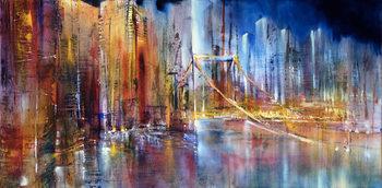 Εκτύπωση καμβά City view