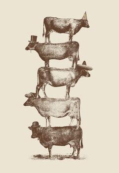 Εκτύπωση καμβά Cow Cow Nuts
