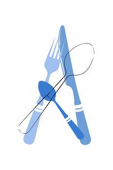 Εκτύπωση καμβά Cutlery