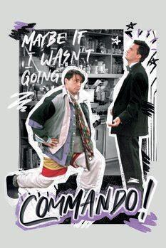Εκτύπωση καμβά Friends - Commando!