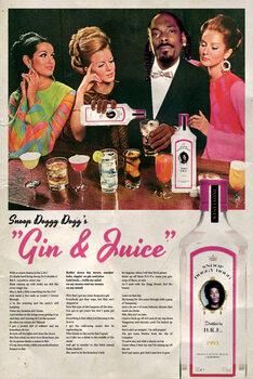 Εκτύπωση καμβά Gin and Juice