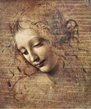Εκτύπωση καμβά Head of a Young Woman with Tousled Hair or, Leda