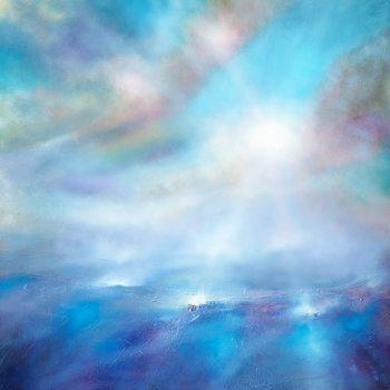 Εκτύπωση καμβά Heavenly blue