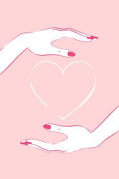 Εκτύπωση καμβά Holding heart