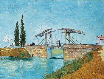 Εκτύπωση καμβά Langlois Bridge at Arles, by Vincent van Gogh