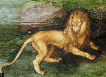 Εκτύπωση καμβά Lion