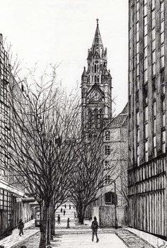 Εκτύπωση καμβά Manchester Town Hall from Deansgate, 2007,