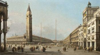 Εκτύπωση καμβά Piazza San Marco Looking South and West, 1763