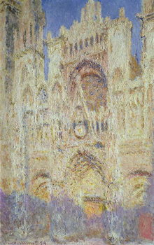 Εκτύπωση καμβά Rouen Cathedral at Sunset, 1894