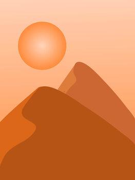 Εκτύπωση καμβά Sahara