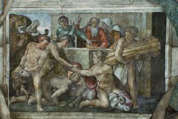 Εκτύπωση καμβά Sistine Chapel Ceiling: Noah After the Flood