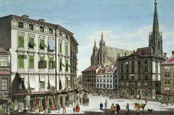 Εκτύπωση καμβά Stock-im-Eisen-Platz, with St. Stephan's Cathedral in the background