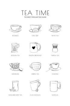 Εκτύπωση καμβά Teatime