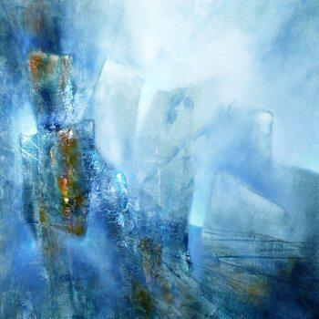 Εκτύπωση καμβά the bright side - blue