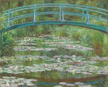 Εκτύπωση καμβά The Japanese Footbridge, 1899