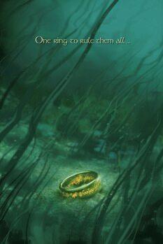 Εκτύπωση καμβά The Lord of the Rings - One ring to rule them all