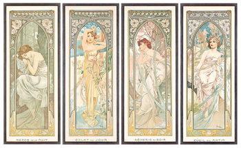 Εκτύπωση καμβά The Times of the Day; Les heures du jour , 1899