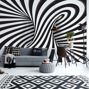 Ταπετσαρία τοιχογραφία 3D Black And White Twister