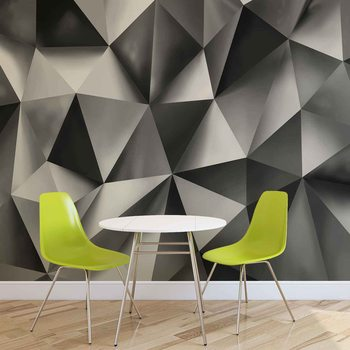 Ταπετσαρία τοιχογραφία Abstract Art Grey