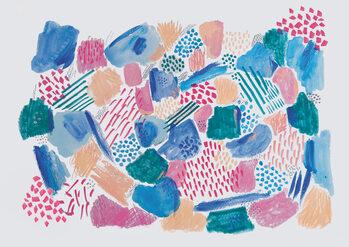 Ταπετσαρία τοιχογραφία Abstract mark making