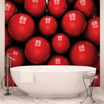 Ταπετσαρία τοιχογραφία Abstract Modern Red Balls