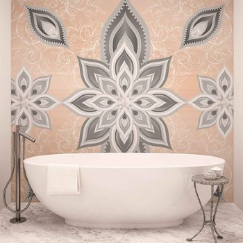 Ταπετσαρία τοιχογραφία Abstract Pattern Silver Gold