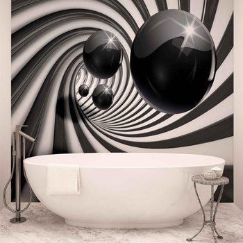 Ταπετσαρία τοιχογραφία Abstract Swirl Modern Spheres
