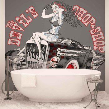 Ταπετσαρία τοιχογραφία Alchemy Hot Rod Devil Car
