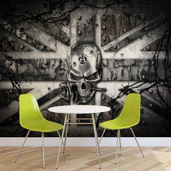 Ταπετσαρία τοιχογραφία Alchemy Skull Union Jack Tattoo
