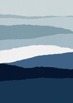 Ταπετσαρία τοιχογραφία Blue Abstract II
