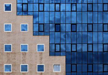 Ταπετσαρία τοιχογραφία Blue Windows