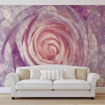 Ταπετσαρία τοιχογραφία Blumen Rose Natur