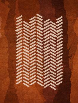 Ταπετσαρία τοιχογραφία Boho Fishbone