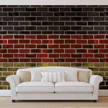 Ταπετσαρία τοιχογραφία Brick German Flag