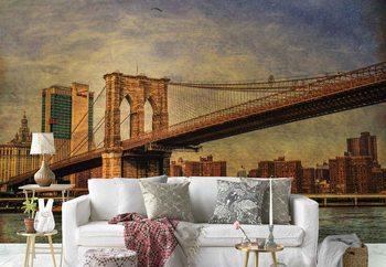 Ταπετσαρία τοιχογραφία Brooklyn Bridge