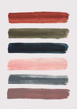 Ταπετσαρία τοιχογραφία Brush strokes