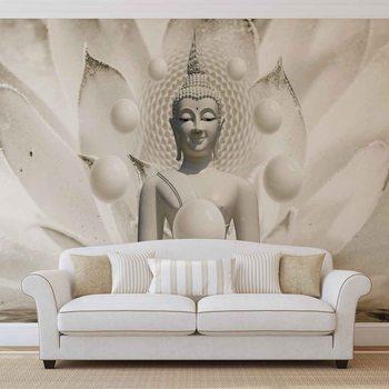 Ταπετσαρία τοιχογραφία Buddha Zen Spheres Flower 3D