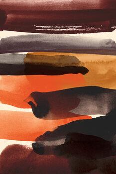 Ταπετσαρία τοιχογραφία Burnt sienna
