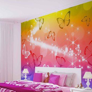 Ταπετσαρία τοιχογραφία Butterflies