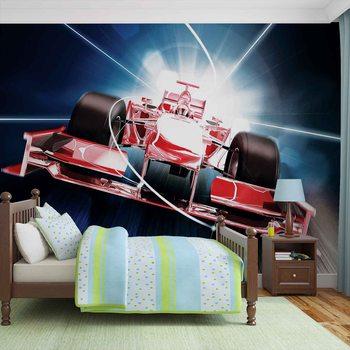 Ταπετσαρία τοιχογραφία Car Formula 1 Red