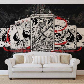 Ταπετσαρία τοιχογραφία Cards Skull Tarot