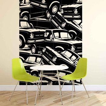 Ταπετσαρία τοιχογραφία Cars Vintage
