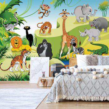 Ταπετσαρία τοιχογραφία Cartoon Animals