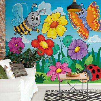 Ταπετσαρία τοιχογραφία Cartoon Bugs