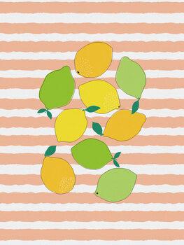 Ταπετσαρία τοιχογραφία Citrus Crowd